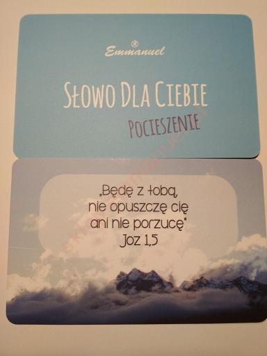 Słowo Dla Ciebie Pocieszenie 10 Kart Z Cytatami Z Biblii